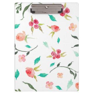 Clipboard Watercolor Flower Fields