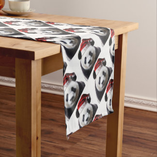 Clipped-Panda-Santa-2 Short Table Runner