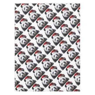 Clipped-Panda-Santa-2 Tablecloth