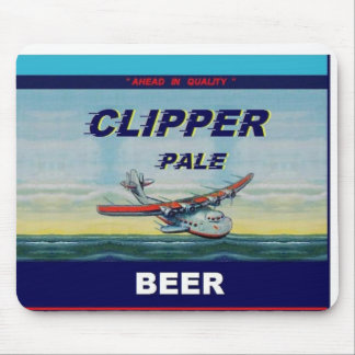 CLIPPER PALE BEER Famous Design Flat Top Can Mouse Pad