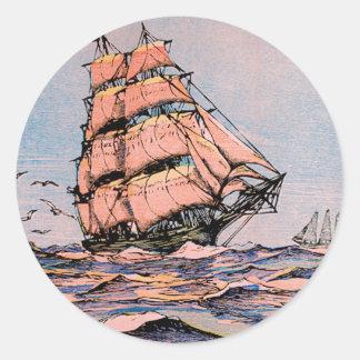 Clipper Ship Ann McKim Classic Round Sticker