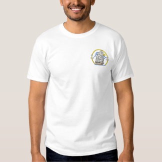 Clipper Ship Logo Embroidered T-Shirt
