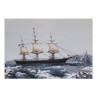 """Clipper Ship """"Red Jacket"""" Poster"""