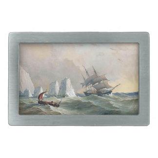 Clipper Ship Sailboat High Seas Mens Belt Buckle