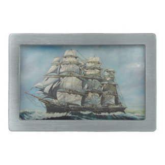 Clipper Ship Sailboat Sailing Sea Mens Belt Buckle