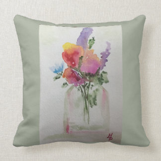Clippings from the Garden Throw Pillow