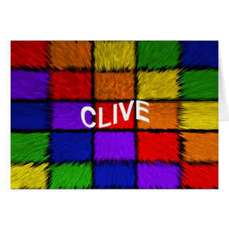 CLIVE CARD