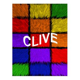 CLIVE POSTCARD