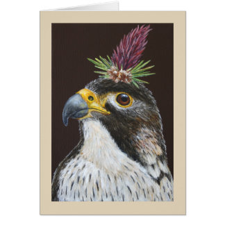 Clive the peregrine falcon greeting card