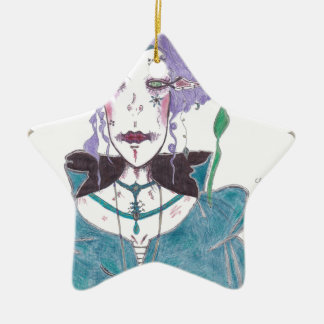 Cloak and Dagger: A Faerie Portrait Ceramic Star Ornament