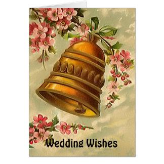 Cloches de mariage cartes