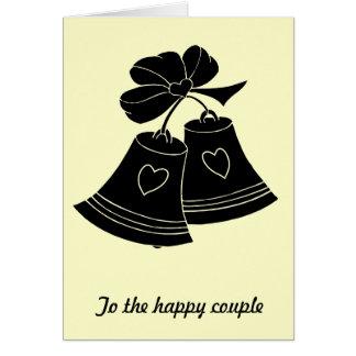 Cloches de mariage carte de vœux