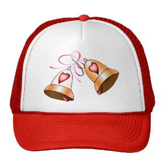 Cloches de mariage casquettes