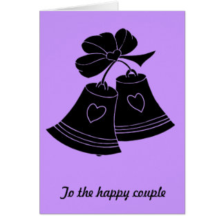 Cloches de mariage, lilas carte de vœux