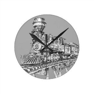 Clock: 1880 Baldwin Round Clock