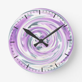 Clock Abstract Design by Trevor Star in Lavendars