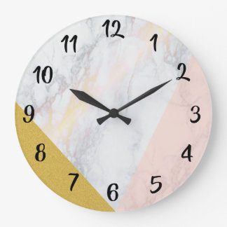 Clock Abstract Marble Effect