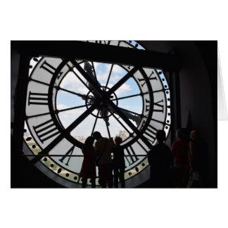 Clock at D'Orsay Museum - Paris, France Card