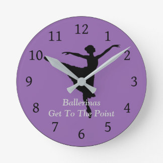 Clock - Ballerinas Get To The Point, Gift For Her