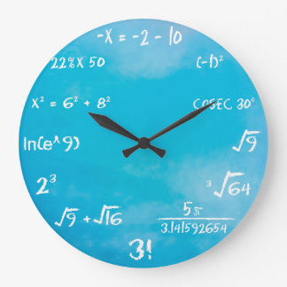 Clock - Blue Maths Wall Clock