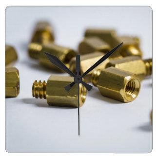 Clock - brass nuts