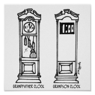 Clock Cartoon 3212 Poster