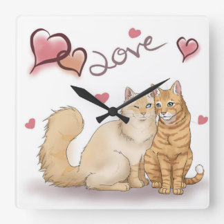 "Clock ""cats love """