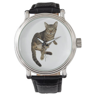Clock Charming Cat Watch