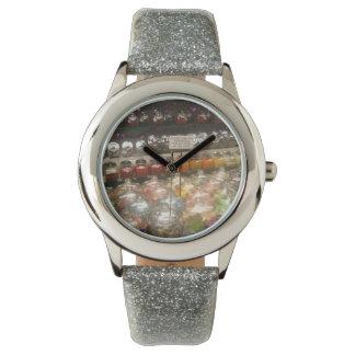 "Clock ""Chuches in jars "" Watch"