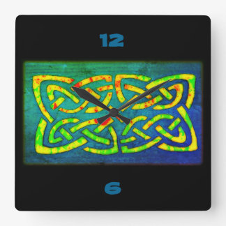 Clock, clock, Celtic Knot, Celtic knot, Square Wall Clock