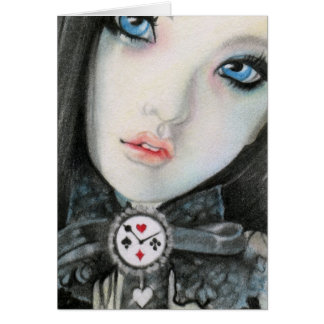 Clock doll face fantasy Card