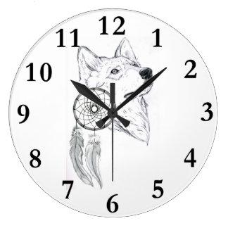 clock dreamcatcher Wolf 1