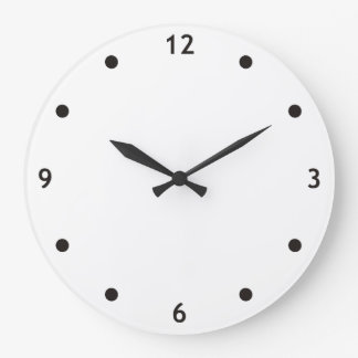 Clock Face Dots & Numbers - white stamp