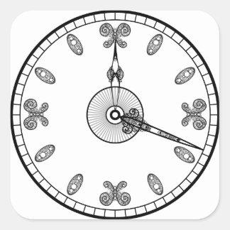 Clock Face Square Sticker
