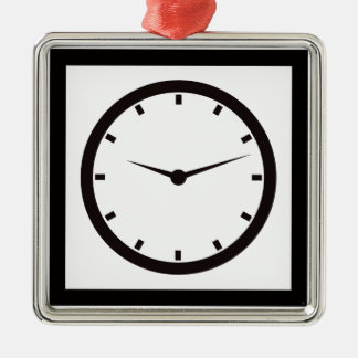 Clock Face with Hands Metal Ornament