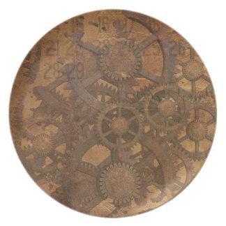 Clock Gears Steampunk Art Dinner Plate