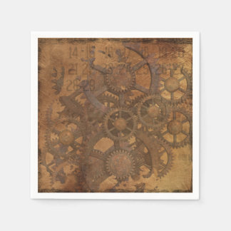 Clock Gears Steampunk Art Disposable Napkin