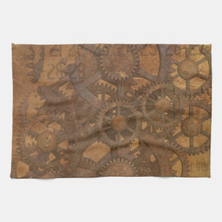 Clock Gears Steampunk Art Hand Towel