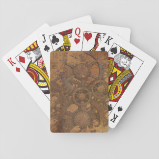 Clock Gears Steampunk Art Playing Cards
