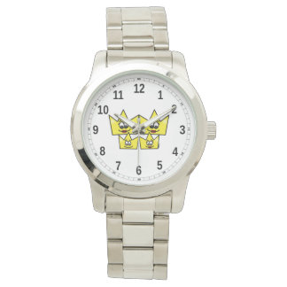 Clock Great Bracelet Silverplated - Gay Family Watch