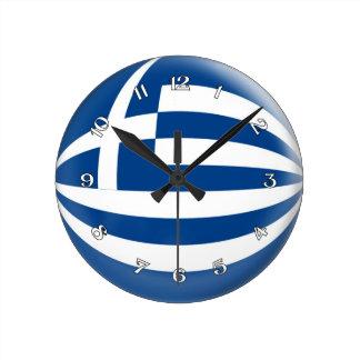 Clock Greece Greek flag Bubble Design