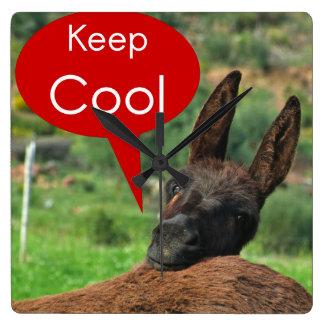 Clock: Happy Donkey - Keep Cool Wall Clock