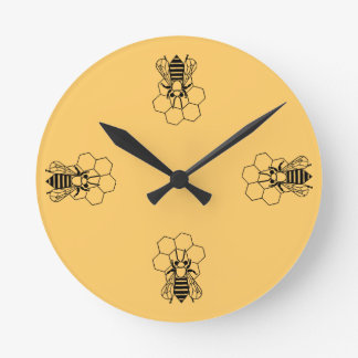 Clock - Honey Bee on comb