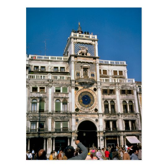 Clock in St Mark's Square, Venice Postcard