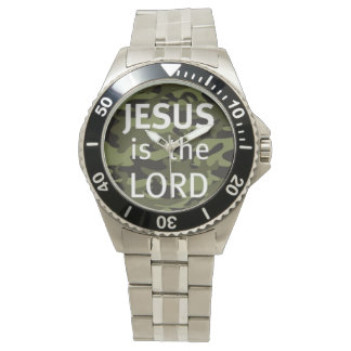 "Clock ""JESUS IS the LORD "" Watch"