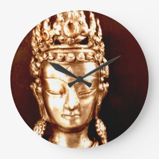 Clock (large) Buddha Vintage