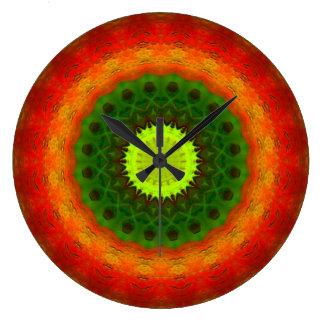 Clock - Large Round - Cyber Sausage Salad
