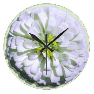 Clock - Lemony White Zinnia