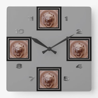 Clock - Lion Head Door Knocker