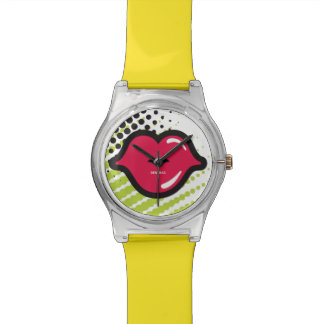 Clock MGP TW Yellow KISS effect Wrist Watches
